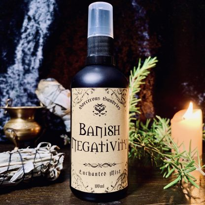 Banish negativity enchanted mist, australian witchcraft supplies, adelaide witchcraft store, free witchcraft spells, witchcraft blog, witchcraft shop, tarot readings, adelaide tarot reader, online tarot