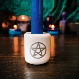 White with silver pentacle, Australian witchraft supplies, adelaide witchraft store, free witchraft spells, witchraft blog, tarot readings, witchraft shop, witchraft supplies