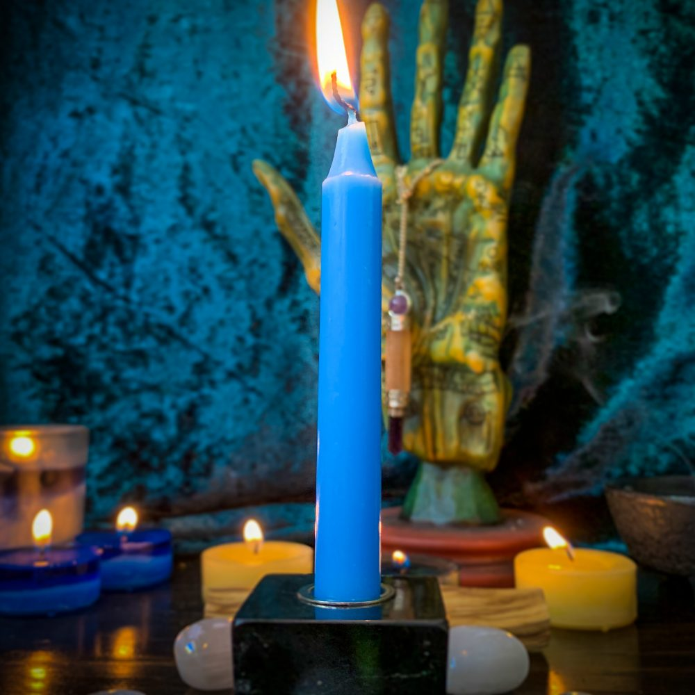 Light Blue Chime Candles, australian witchcraft supplies, adelaide witchcraft store, free witchcraft spells, witchcraft blog, wholesale witchcraft, witchcraft shop, tarot online, spell candles, pagan supplies