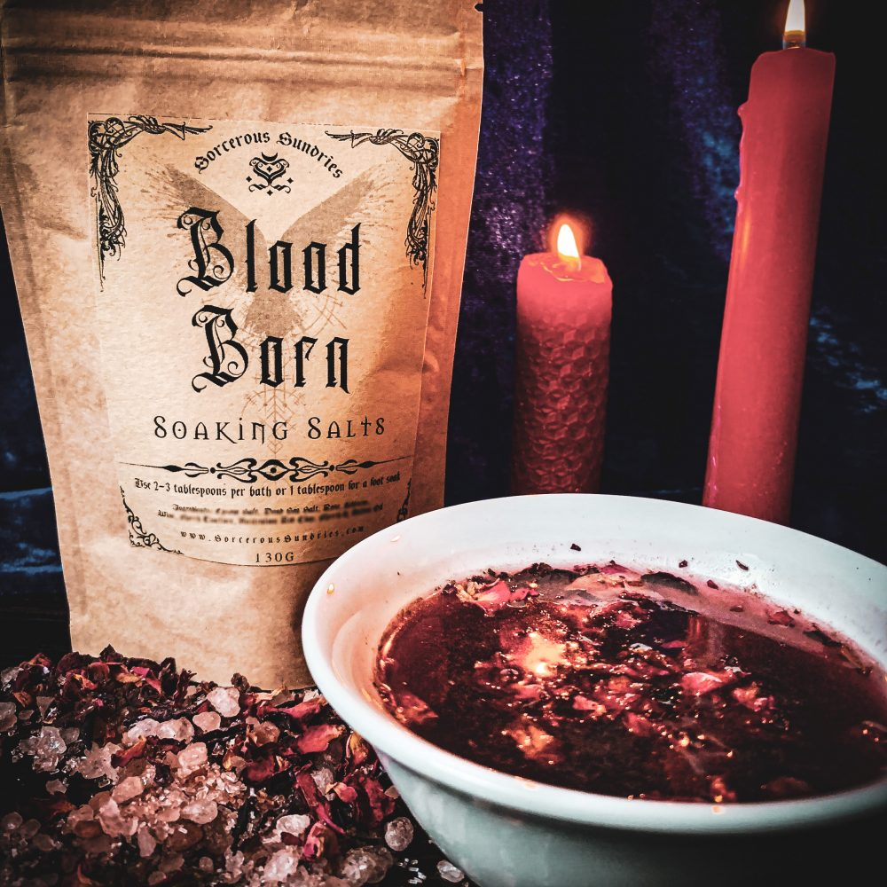 blood born soaking salts, australian witchcraft supplies, adelaide witchcraft store, witchcraft blog, wholesale witchcraft, witchcraft store, magic bath, spell bath