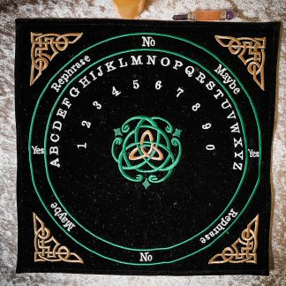 Celtic triquetra pendulum mat, Australian witchcraft supplies, Adelaide witchcraft store, free witchcraft spells, tarot readings, witchcraft blog, wholesale witchcraft, witchcraft shop, witchcraft supplies