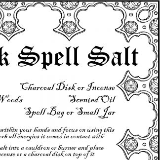 Black spell salt page, australian witchcraft supplies, adelaide witchcraft store, pagan supplies, australian pagan, wholesale witchcraft, witchcraft shop, free witchcraft spells, witchcraft blog